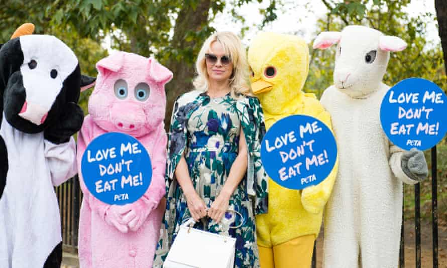 Pamela Anderson has worked with Peta to promote vegan food