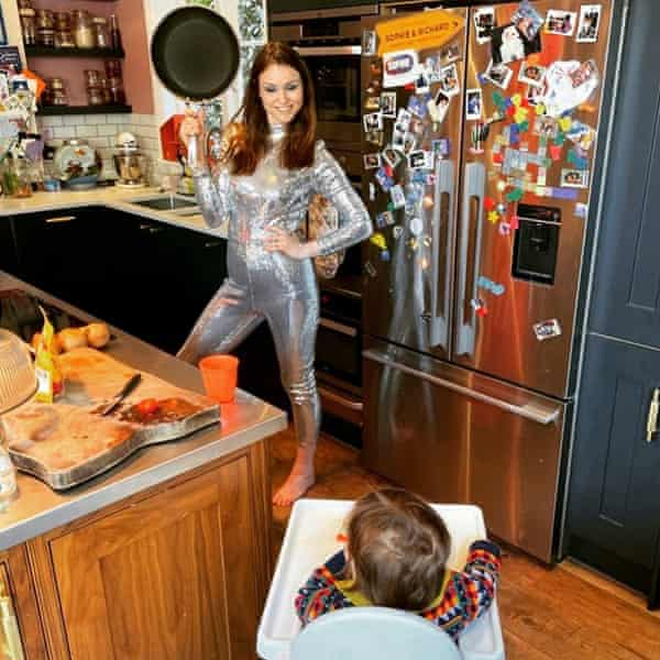 Sophie Ellis-Bextor and her youngest son, Mickey