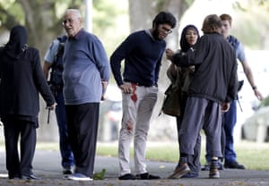 People wait for information after the attacks