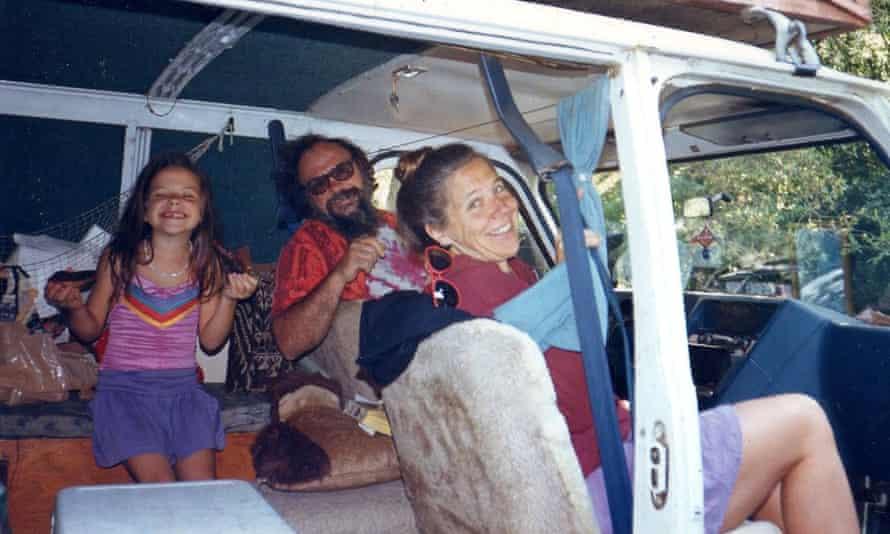 'Hippies in a van:' Felisa Rogers and her parents.