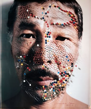 Masahisa Fukase died in 2012 after being in a coma for 20 years, but his reputation has continued to grow. The Japanese photographer, who fell down some stairs in a Tokyo bar and never recovered from the damage to his brain, is seen here in a 1983 self-portrait. It is one of a series of large-format Polaroids that he altered dramatically. The Incurable Egoist, a new retrospective, is at the Arles photography festival until 24 September. All photographs: Masahisa Fukase/Michael Hoppen Gallery