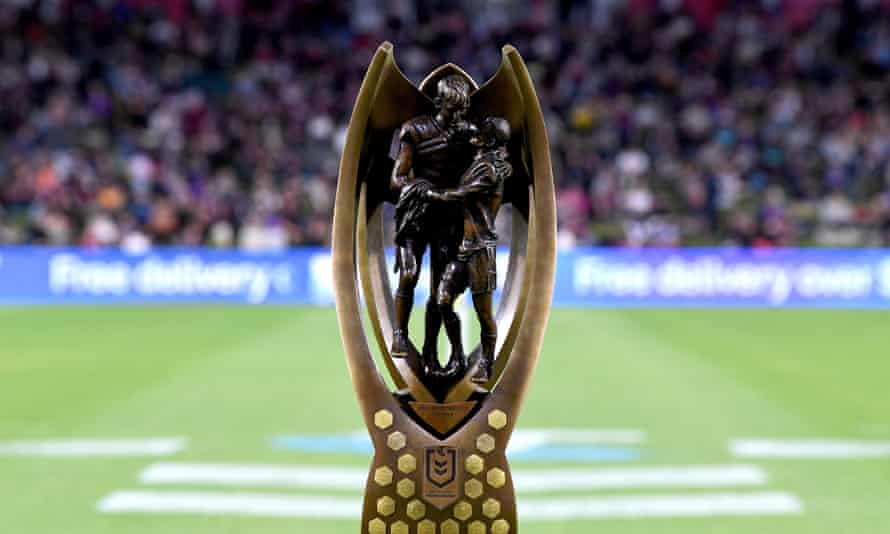 The NRL premiership trophy, on which Provan and Summons are immortalised.