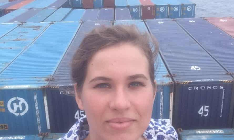 Rebecca Moss, the performance artist stranded aboard the ship Hanjin Geneva.