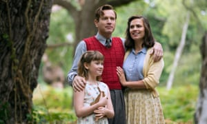 Ewan McGregor, Hayley Atwell and Bronte Carmichael in Christopher Robin, directed by Marc Forster.