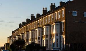 Terraced houses in south-east London