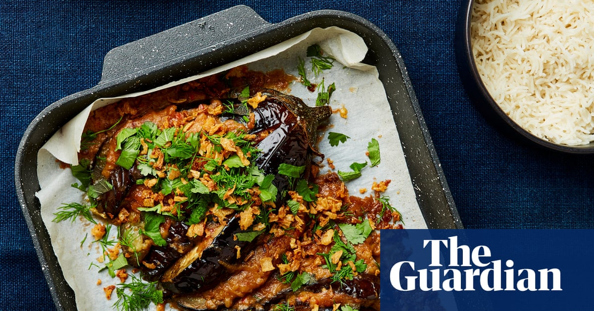 Meera Sodha's vegan recipe for satay sauce roast aubergine