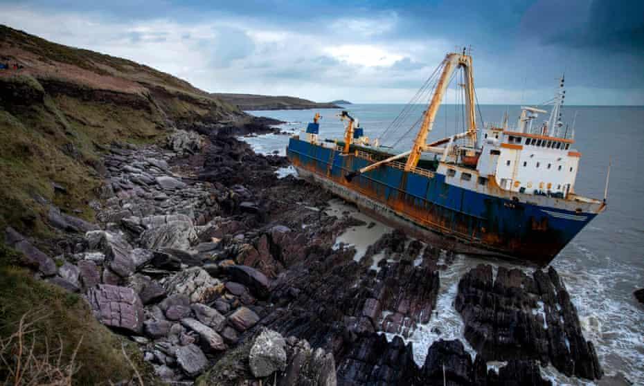 The abandoned cargo ship MV Alta