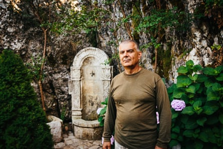 Ibrahim Haddad, a Lebanese civil war veteran, in the grounds of the Memorial of Christian Martyrs in Beirut