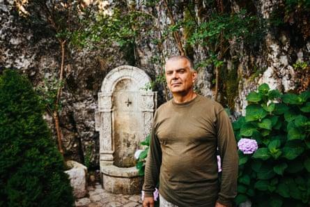 Ibrahim Haddad, a Lebanese civil war veteran, in the grounds of the Memorial of Christian Martyrs of the Lebanese Civil War.