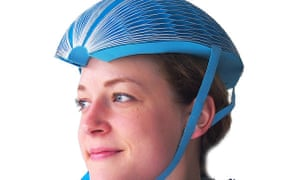 The EcoHelmet. Its honeycomb design gives it strength.