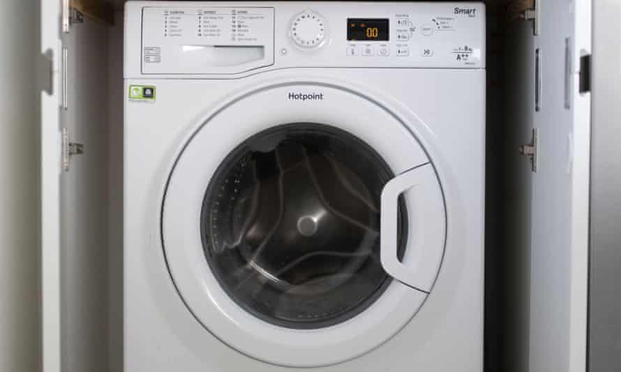 A Hotpoint washing machine on the recall list as they were at risk of causing a fire because of a faulty door mechanism.