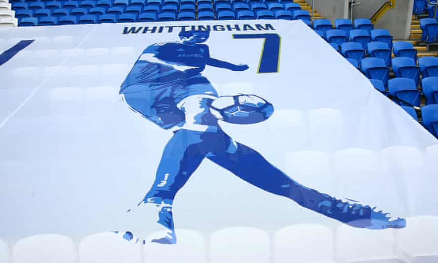 A tribute to Peter Whittingham at Cardiff City Stadium last June.