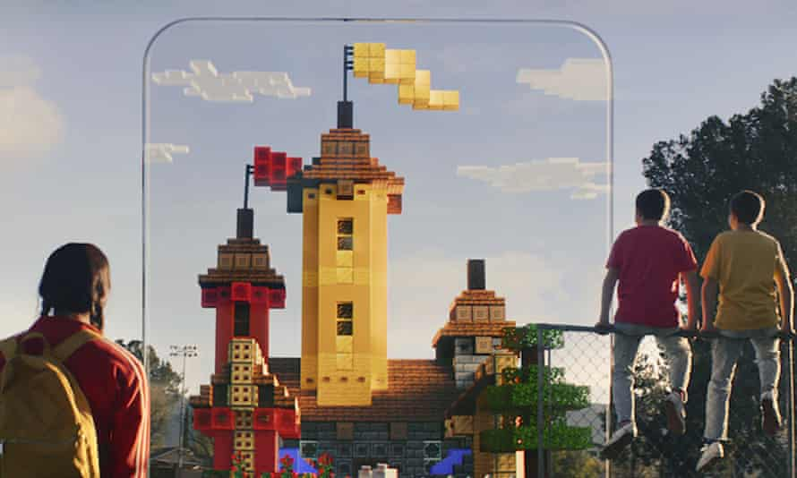 Castles in the air … Minecraft Earth.