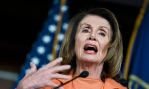Nancy Pelosi, the Democratic house minority leader, speaks during a press conference.