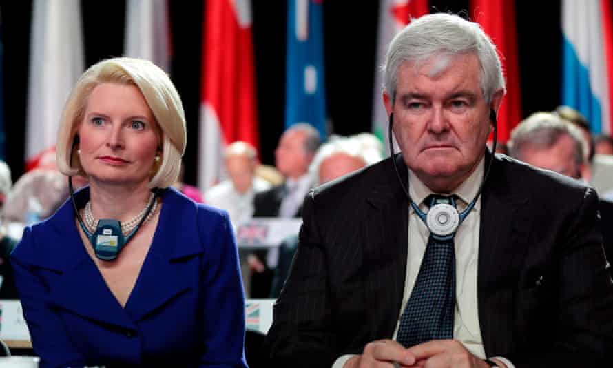 Callista and Newt Gingrich in Villepinte, France, on 22 June 2013.