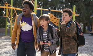 Lucas (Keith L. Williams), left, Max (Jacob Tremblay) and Thor (Brady Noon) in Good Boys.