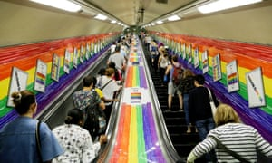 Participants arrive for Pride in London