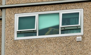 A resident of one of the Melbourne public housing towers thanks supporters during the hard lockdown.