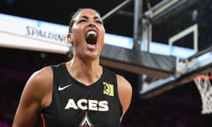 Liz Cambage of the Las Vegas Aces
