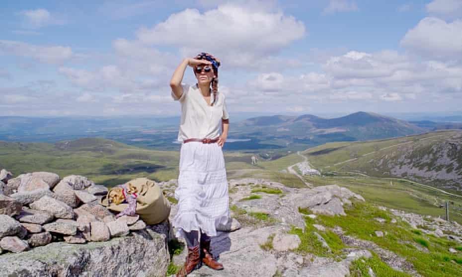Elise Wortley in Cairngorms national park.