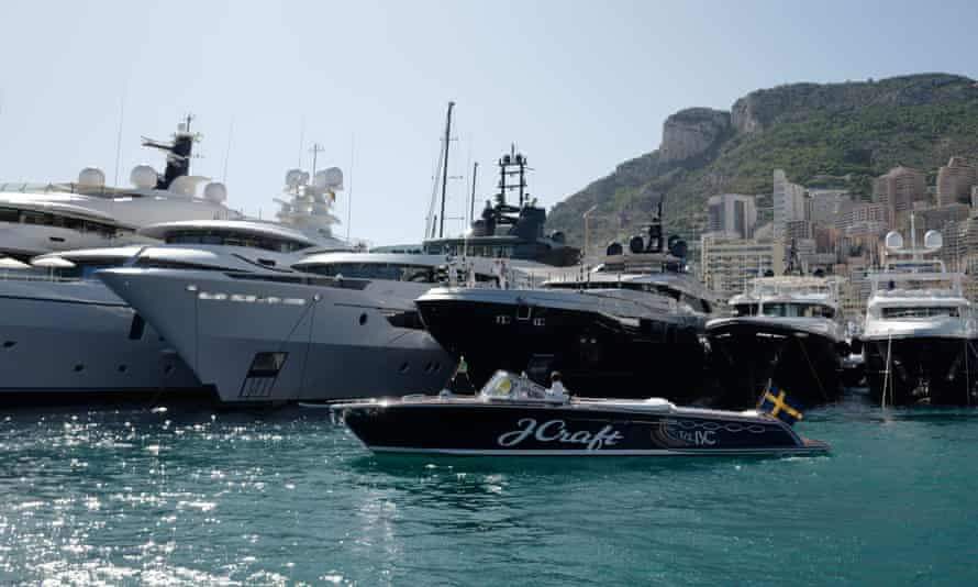 Yachts moored in Monaco.