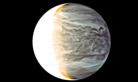 A picture of Venus in space