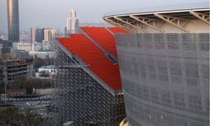 A view of Ekaterinburg Arena under construction.