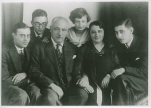 Natasha Walter's great-grandparents, Mathias and Clementine Stein, centre, with their children in Hamburg, Germany, late 1920s.