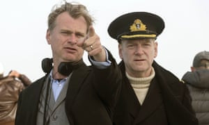 Christopher Nolan and Kenneth Branagh on the set of Dunkirk.