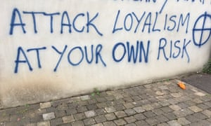 Graffiti warning contractors not to remove pallets for a bonfire in east Belfast.