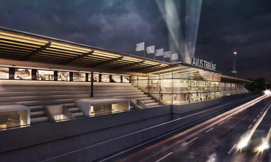 Render of the design for the new Avus grandstands