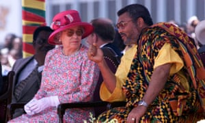 The Queen and Jerry Rawlings