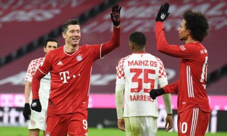 European roundup: Bayern hit back to beat Mainz while 10-man Milan stay top