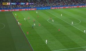 VAR shows England's Ellen White was fractionally offside before slotting the ball away.
