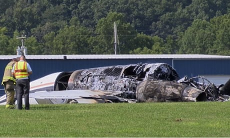 Plane carrying Dale Earnhardt Jr and family crashes in Tennessee