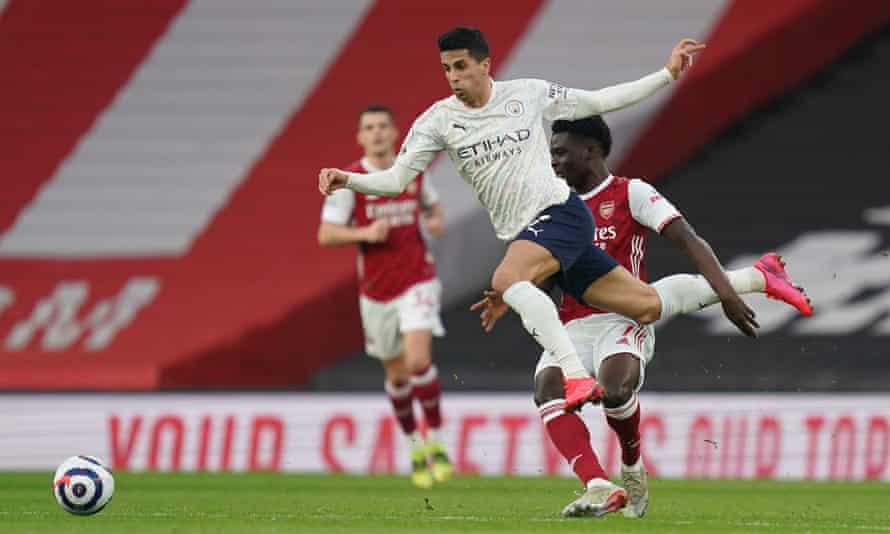 Arsenal struggled to keep tabs on Joâo Cancelo, as Manchester City won at the Emirates Stadium.