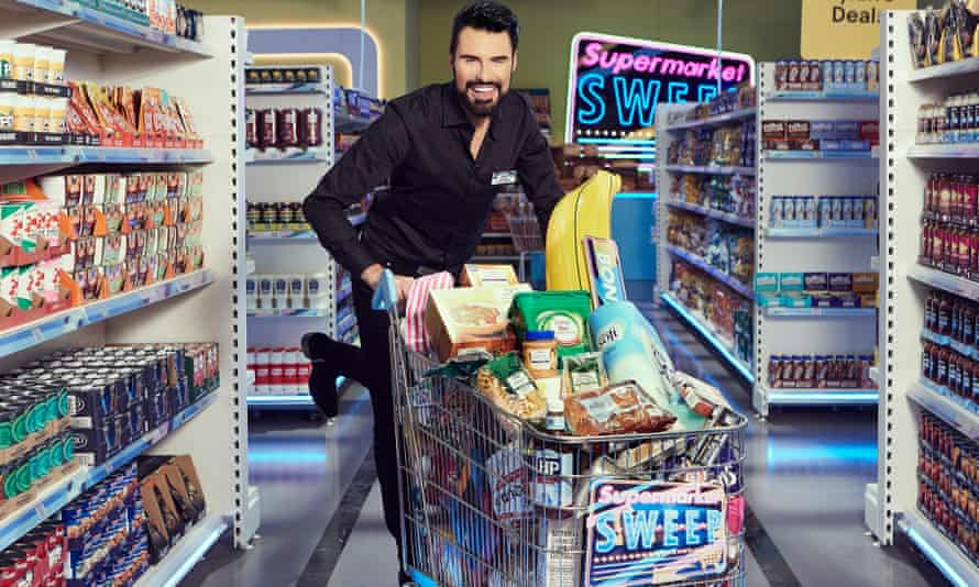 Rylan Clark-Neal goes full method in his new role as host of Supermarket Sweep.