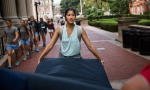 Emma Sulkowicz columbia university rape mattress