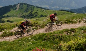 Mountain biking near Morzine