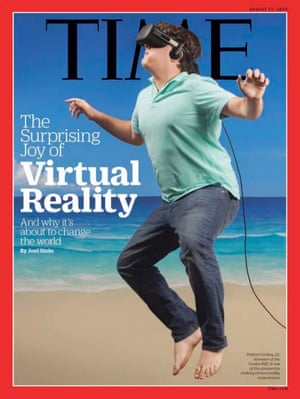 Palmer Luckey, the founder of Oculus Rift, on the cover of Time magazine.
