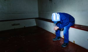 Teenager in prison cell.