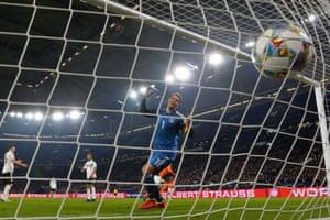Virgil van Dijk scores past Manuel Neuer.