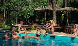 Pool at the Purple Valley Yoga school, Goa