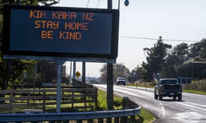 A road sign in Ohau, New Zealand on Wednesday.