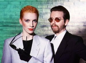 Annie Lennox and Dave Stewart of Eurythmics.