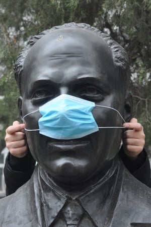 Statue is given its own mask