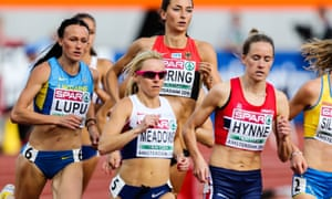 Jenny Meadows at the European Championships in Amsterdam last week.