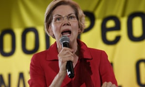 Democratic presidential candidate Sen. Elizabeth Warren speaks at the Poor People's Moral Action Congress presidential forum in Washington DC.