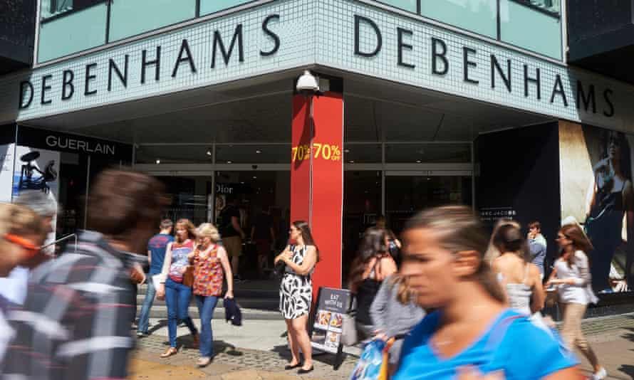 A Debenhams store