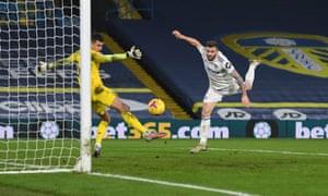 Stuart Dallas puts Leeds in front.